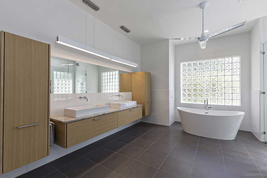 Spacious Remodeled Bathroom